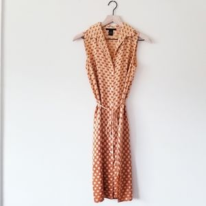 The Limited Silk Printed Button Front Midi Dress